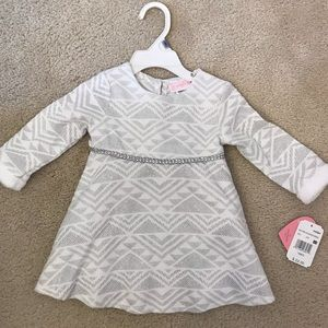 White and silver dress 18 mo girl